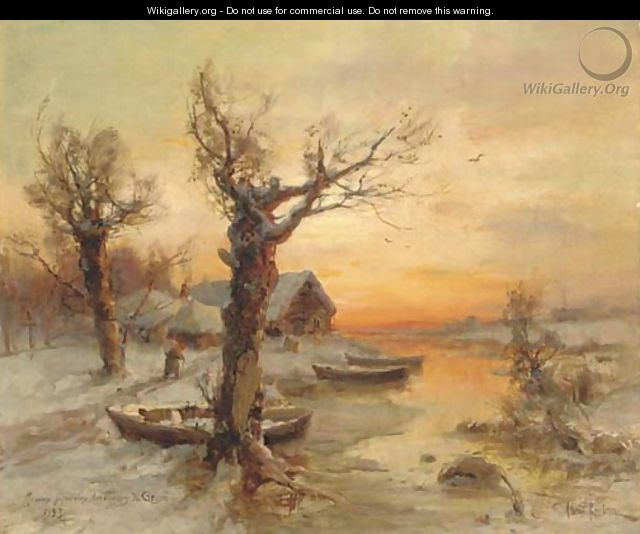 The riverside at winter - Iulii Iul