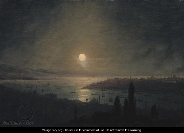 View of Constantinople at night - Ivan Konstantinovich Aivazovsky