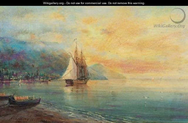 Tranquil Dawn on the Black Sea Coast - Ivan Konstantinovich Aivazovsky