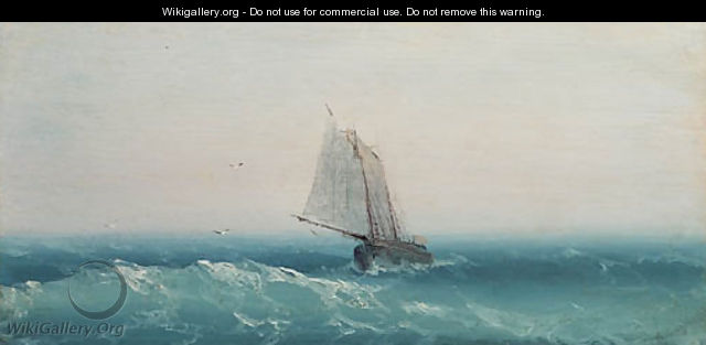 Ship in calm sea - Ivan Konstantinovich Aivazovsky