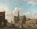 A view of St. Bavo's Cathedral - Isaak Ouwater