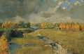 Golden Autumn by the River - Isaak Ilyich Levitan