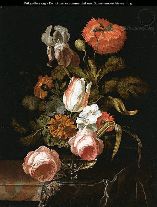 A tulip and Roses - Isaak Denies
