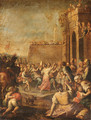 The Triumphal Entry of David into Jerusalem - Italian School