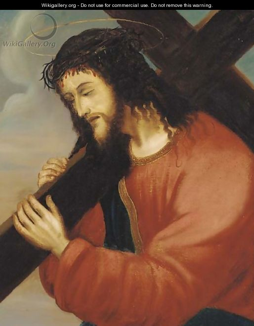 Christ carrying the cross - Italian School