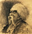 Portrait of a laughing Cossack - Ilya Efimovich Efimovich Repin