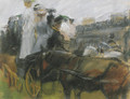 At the Longchamps races, Paris - Isaac Israels