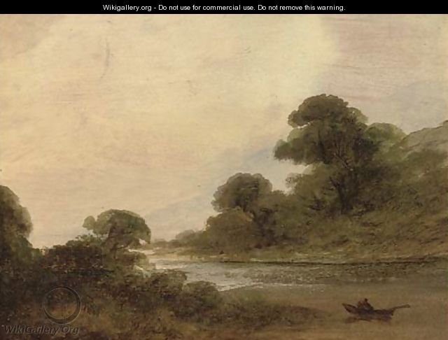River landscapes, sketches - Irish School
