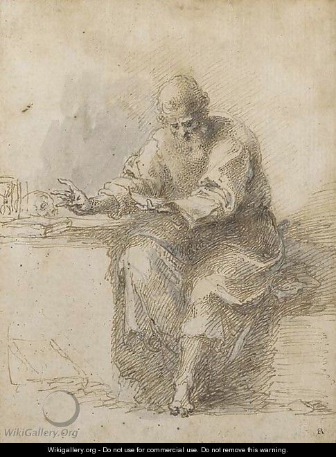 St Jerome reading - Isaac Oliver