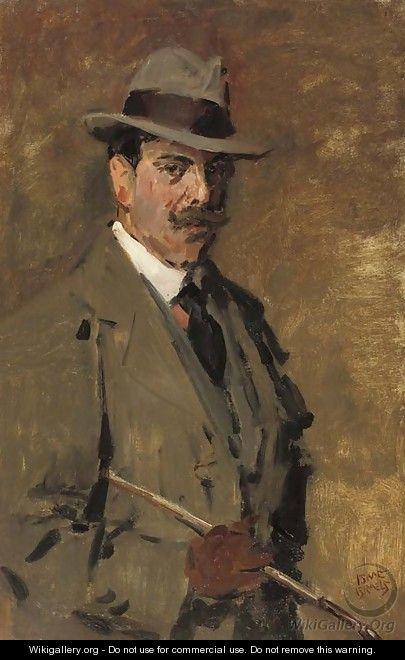 Portrait of a gentleman holding a riding-crop - Isaac Israels