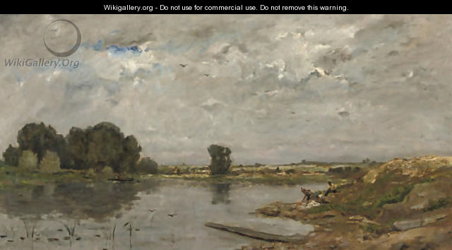 Washing in the river - Hippolyte Camille Delpy