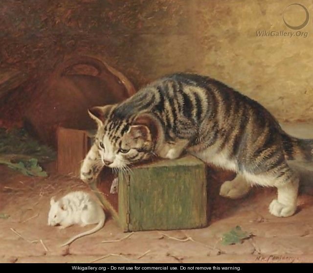 Stalking the pet mouse - Horatio Henry Couldery