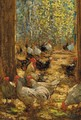 Chickens in the yard - Horace Mann Livens