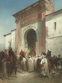 Royal Procession at the Gateway - Honore Boze