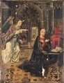 The Annunciation with the Visitation beyond - Hispano-Flemish School