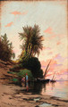 Sunset on the river Nile - Hermann David Salomon Corrodi