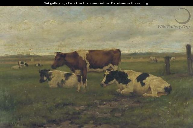 Cattle in a meadow - Herman Wolbers