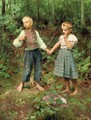 Holding hands in the forest - Hermann Seeger