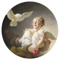 Girl holding a dove (said to be a Portrait of Marie-Catherine Colombe) - Jean-Honore Fragonard