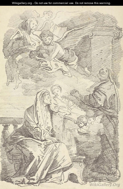 Saint Anne teaching the young Virgin to read, after Giovanni Battista Tiepolo - Jean-Honore Fragonard