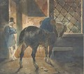 A cart-horse and a postilion at the door of a forge - Theodore Gericault