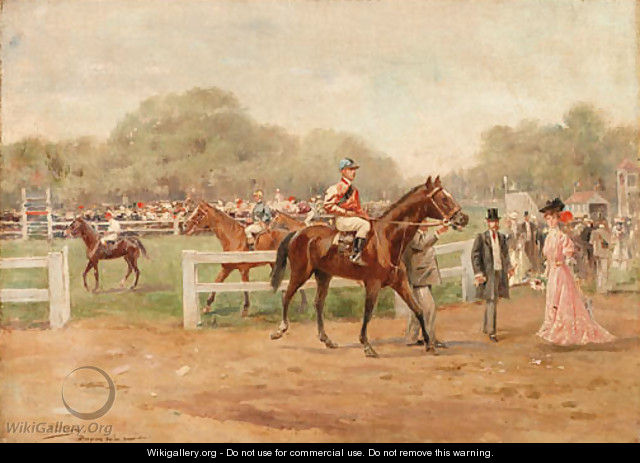 At the races - Joaquin Pallares y Allustante
