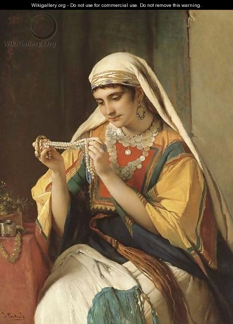 The pearl necklace - Jean-Francois Portaels
