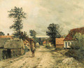 A Young Man Traveling through a Village - Jean-Charles Cazin