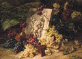 A stone Relief depicting the drunken Silenus amidst Grapes - Jean Capeinick