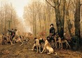 Morning The Hunt at Chantilly - Jean Maxime Claude