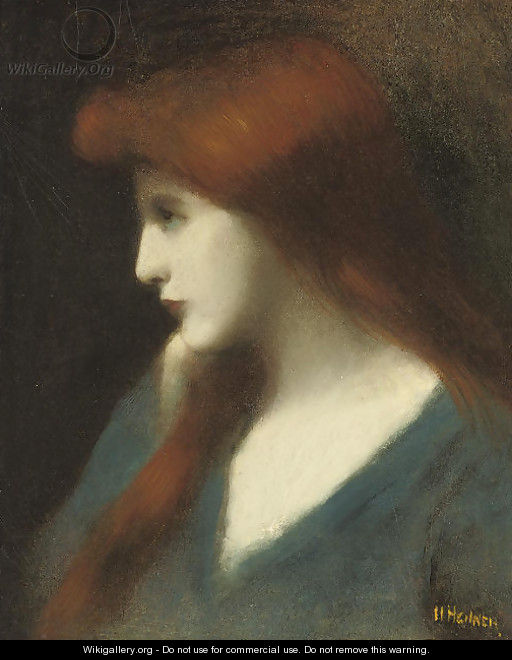 Lady in blue - Jean-Jacques Henner