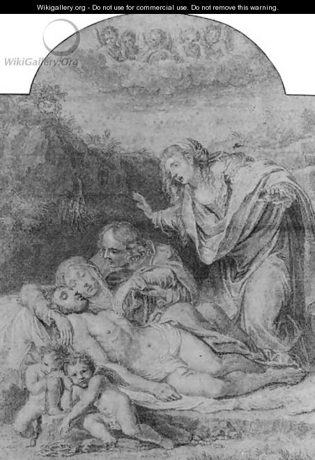 The Pieta, after Annibale Carracci - Jean-Baptiste Haussard