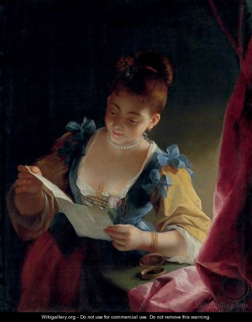 A young lady reading - Jean Raoux