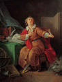 Portrait of Marie-Joseph Chenier (1764-1811), small full-length, a quill in his left hand - Jean-Baptiste Huet