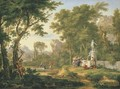 A classical landscape with the Worship of Bacchus 2 - Jan Van Huysum
