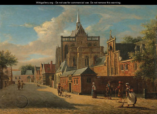 A view in Cologne, looking towards the Cathedral - Jan Van Der Heyden