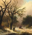 Travellers in a winter forest - Jan Jacob Spohler