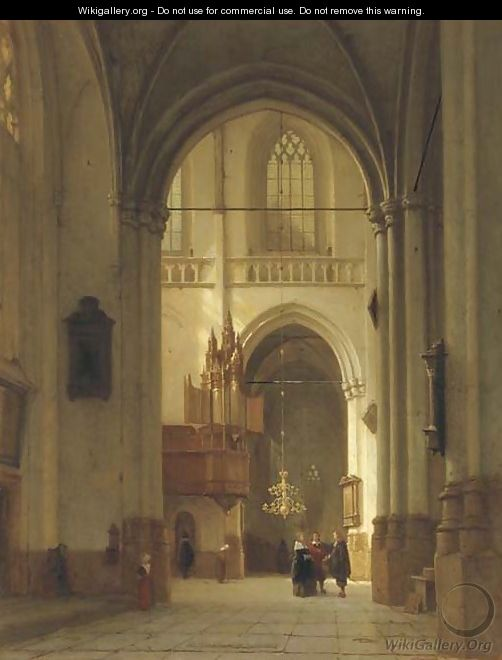 Figures in the Nieuwe Kerk, Amsterdam - Jan Jacob Schenkel