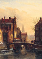 View On The Grimburg Wall, Amsterdam - Jan Jacob Coenraad Spohler