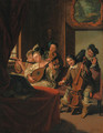 Elegant figures in historical costume, at a music recital - Jan Jozef, the Younger Horemans