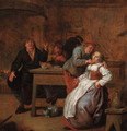 Peasants in an inn, with a courting couple - Jan Miense Molenaer