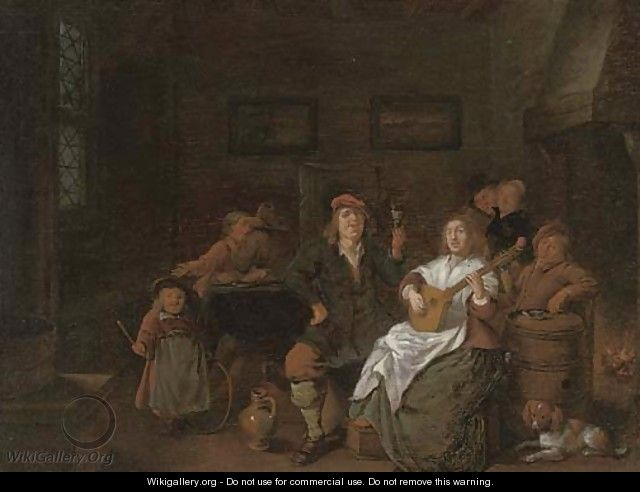 Boors merry making in an inn - Jan Miense Molenaer