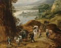 Travelers on a mountain path - Jan, the Younger Brueghel