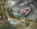 God creating the Sun, the Moon and the Stars in the Firmament - Jan, the Younger Brueghel