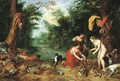 Diana and her nymphs inspecting their catch after the hunt - Jan, the Younger Brueghel