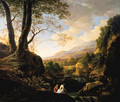 An Italianate landscape with bathers at a river - Jan Both