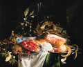 Strawberries and peaches - Jan Davidsz. De Heem