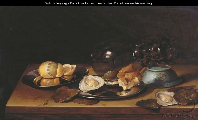 An upturned roemer and Chinese bowl - Jan Davidsz. De Heem