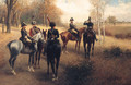 Prussian Staff And Cavalry Officers On Reconnaissance - Jan van Chelminski