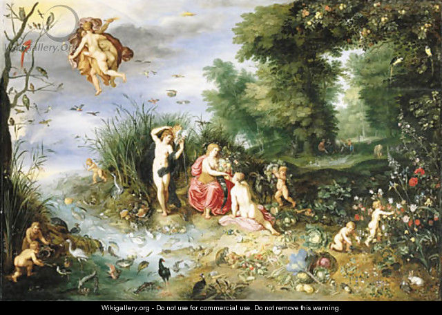 An Allegory of the Four Elements - Jan, the Younger Brueghel